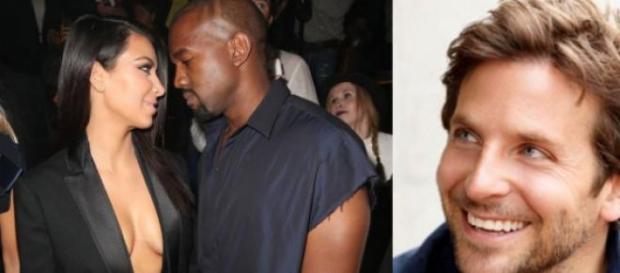 Kim Kardshian, Kanye West e o actor Bradley Cooper