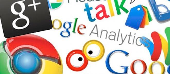 Iconos de los servicios más conocidos ofrecidos por Google.