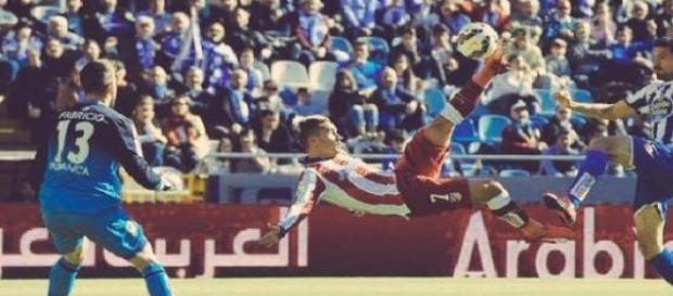 Griezmann se mandó espectacular gol de Chilena