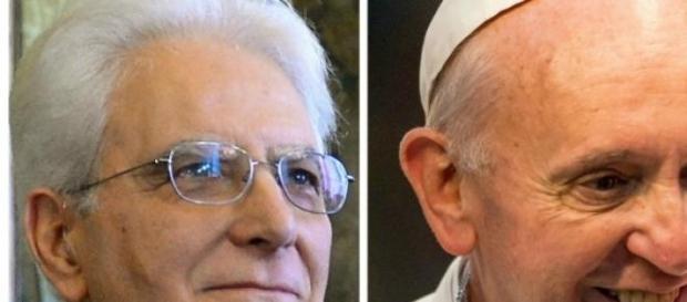 Il Presidente Mattarella con Papa Bergoglio