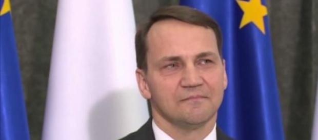 Radosław Sikorski na spotkaniu w Dreźnie 18,04.