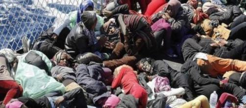La situazione disumana profughi giunti in Italia.