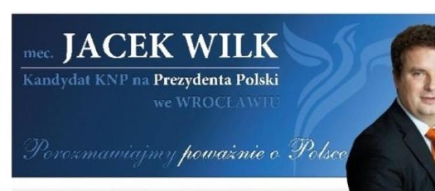 Jacek Wilk - poster wyborczy, mat. prasowy