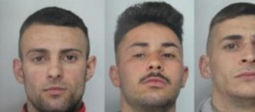 I tre giovani arrestati dalla Polizia