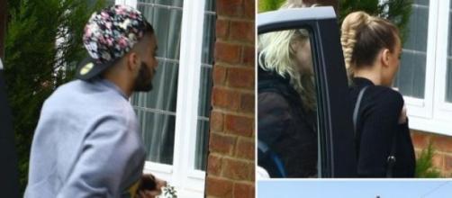 Zayn e Perrie visitaram mansão (Foto: Mirror)
