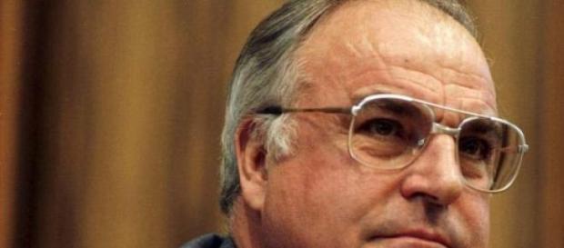 Bundestagswahlkampf am 23.01.1987 mit Helmut Kohl