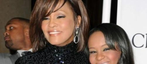 Bobbi Kristina com a mãe, Whitney Houston