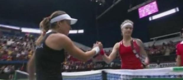 Alexandra Dulgheru după victoria cu Genie Bouchard