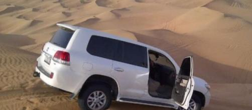 Dune bashing in Dubai's desert