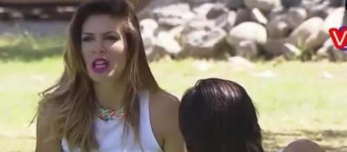 Eugenia Lemos muy disgustada con Matias