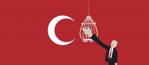 """Turquie vs Twitter"" - Crédits : Khalid Albaih"