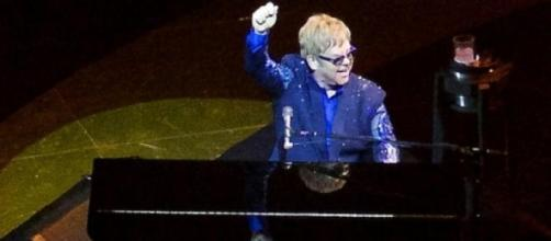 Sir Elton topped the list of celebrity givers
