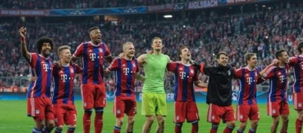 Bayern comemora classificação diante do Porto