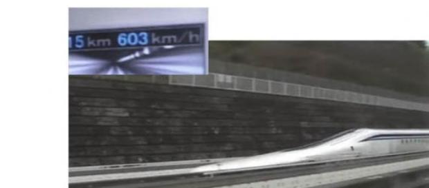 el nuevo tren de levitación magnética del Japón