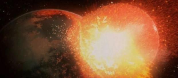 La Luna surgió de un enorme choque cósmico
