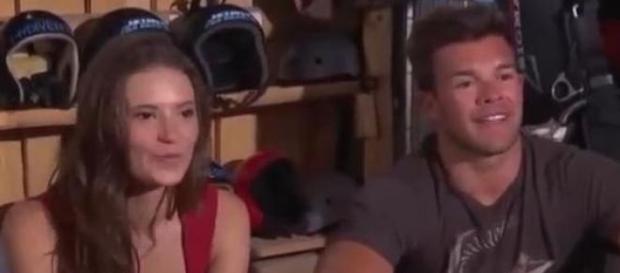 Leandro Penna volando con Julia Fernandez