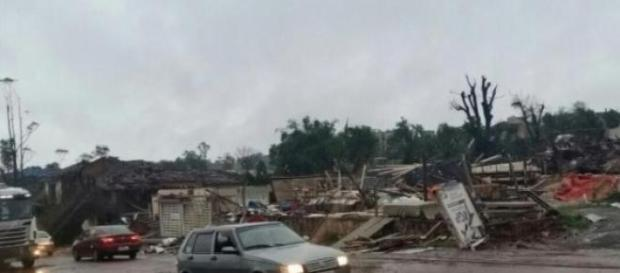 Após a passaqem do tornado