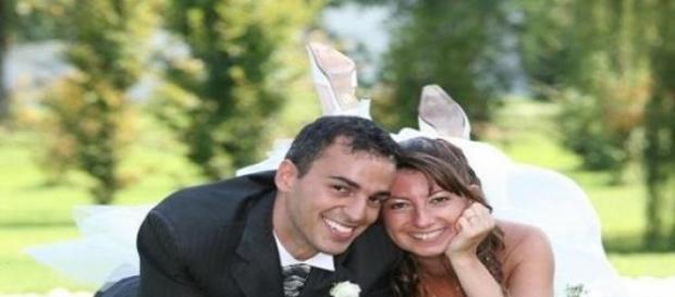 Carlo LIssi e la moglie al loro matrimonio.