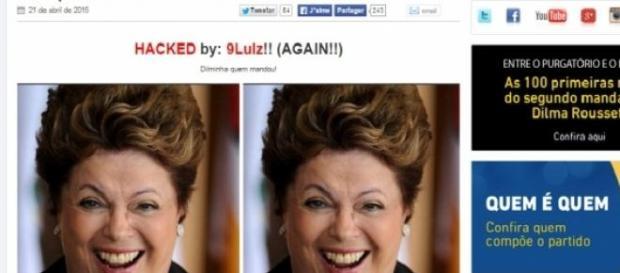 Hacker divulgou foto de Dilma no site do PSDB