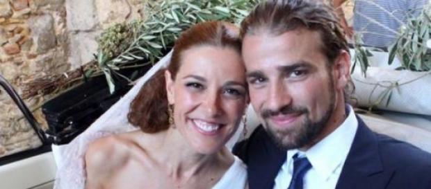 Mario Biondo e Raquel nel giorno del matrimonio