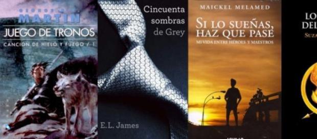 Un grupo de libros de actualidad
