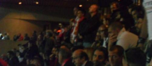 Luciano Moggi allo Stadio Louis II di Montecarlo