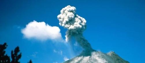 Vulcão em erupção no Chile