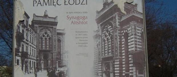 Łódź, wspomnienie zburzonej dzielnicy żydowskiej