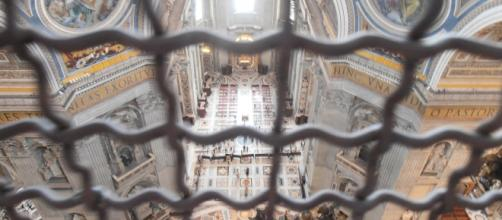 La basilica di San Pietro vista dall'alto