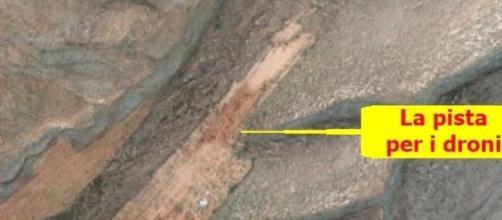 La pista per i droni in Libano. Fonte Google Earth