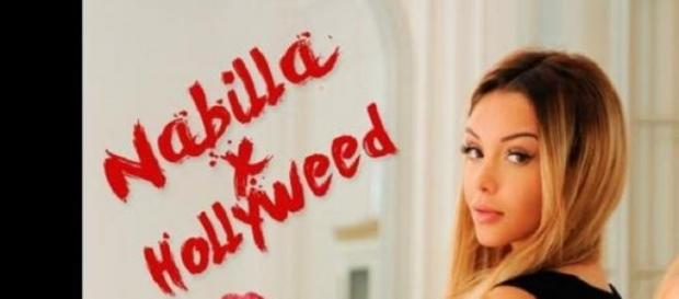 Nabilla présente au WTF pour la marque Hollyweed