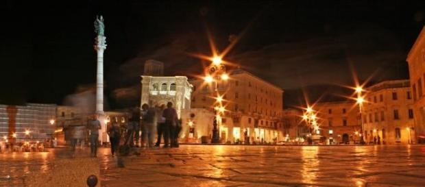 Una veduta di Piazza Sant'Oronzo, Lecce.