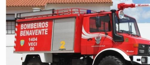 Bombeiros V. de Benavente estiveram no local.
