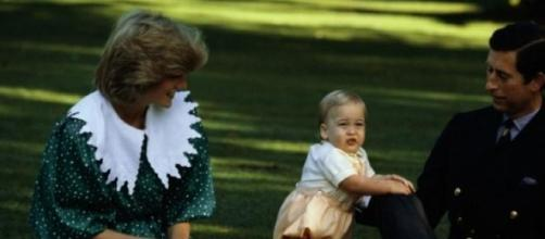Lady Diana e Carlo col piccolo Williams