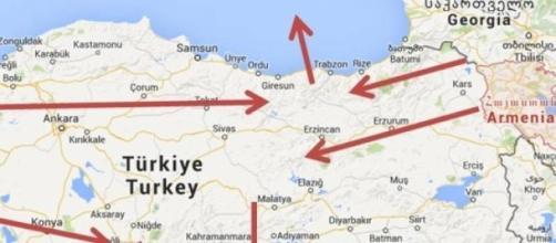 Rutas por donde se deportaron a los armenios