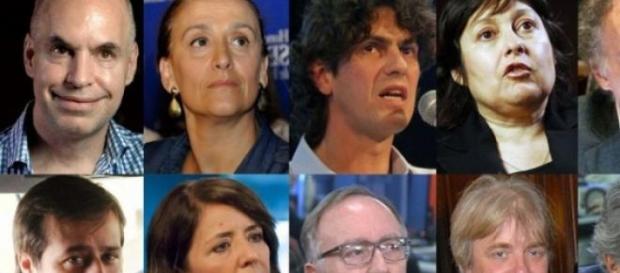 Acá están, estos son los candidatos a las PASO