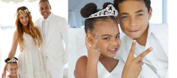 Blue Ivy encantou no casamento da avó