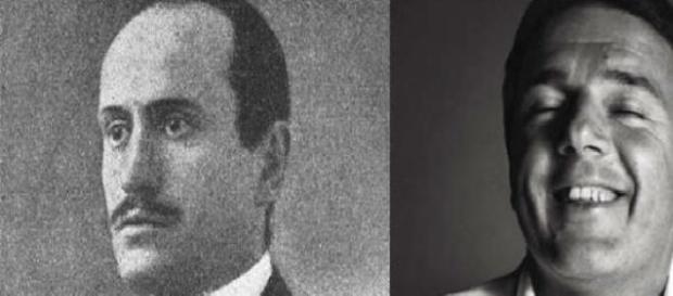 Foto di Renzi e Mussolini