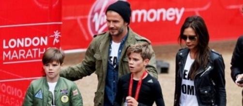 Os Beckham: Cruz, David, Romeo,Victoria e Brooklyn