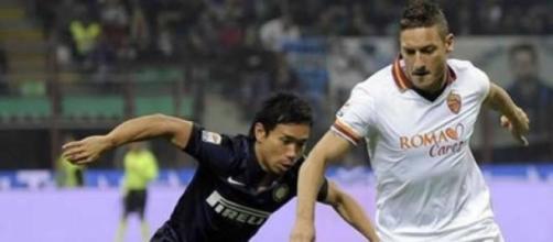 Totti in un recente Inter-Roma