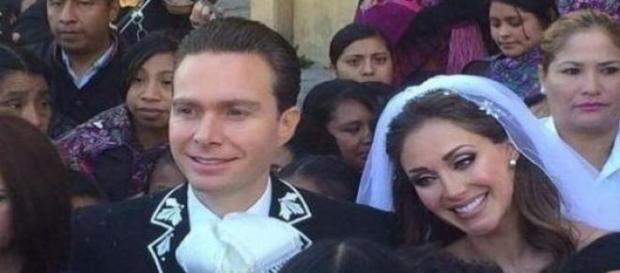 Anahi e Manuel se casaram nesse sábado