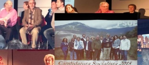 El PSOE  presenta su candidatura en Miraflores