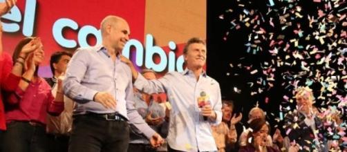 Macri festeja la victoria del PRO en Buenos Aires