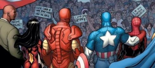 Spider-Man junto a Los Vengadores en 'Civil War'