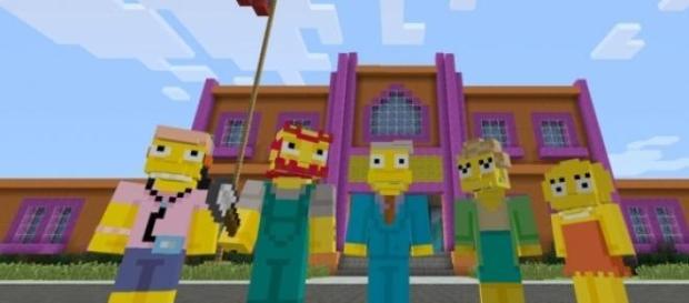A versão Simpsons para Minecraft