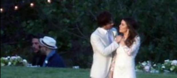 Ian e Nikki il giorno delle nozze