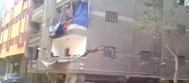 Les images de l'immeuble diffusées par TF1 au 20H.