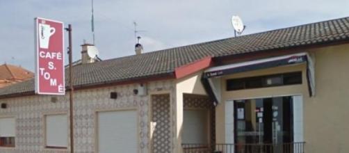 Café onde ocorreu o homicídio na Póvoa do Varzim.