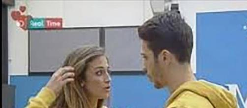 Cristian e Virginia durante una discussione.