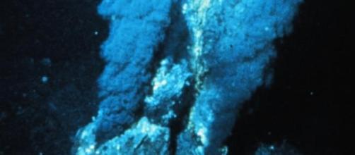 Fuente hidrotermal de la dorsal atlántica